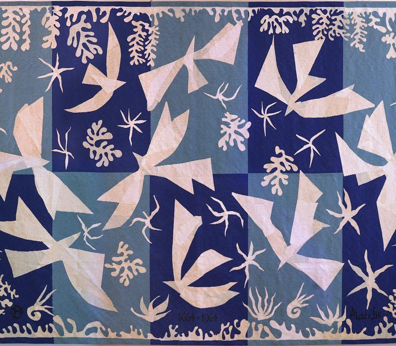 Henri Matisse - Polynésie, le ciel, 1964 - Technique de basse-lisse - laine et coton - 195 x 304 cm Ville de Beauvais. Photographie : Sophie Goullieux. ©Succession H. Matisse